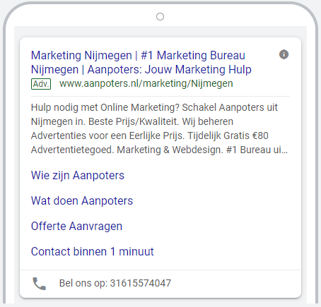 google ads advertentie voorbeeld